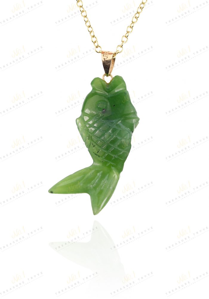 18ct jade fish pendant treasure trove 18ct jade fish pendant aloadofball Images